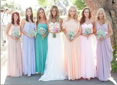 pastel colored weddings